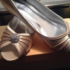 wedding shoes davids bridal david s bridal kelsey wide dyeable shoes from barely s closet on
