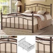 queen metal bed frame bedroom furniture headboard footboard rails