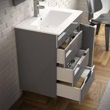 eviva geminis 39 grey modern bathroom vanity with white