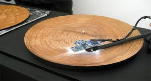 tree cross section table when you put tree rings on a record player the sound is