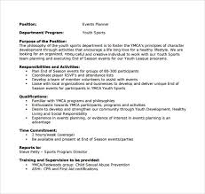 Event Coordinator Job Description Resume by Sample Event Planner Resume 7 Documents In Pdf Word