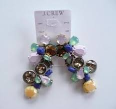 J Crew Crystal Beaded Chandelier J Crew Crystal Shade Statement Earrings Nwt 85 Style A9252