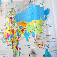 Shower Curtain Map Download Map World Shower Curtain Major Tourist Attractions Maps
