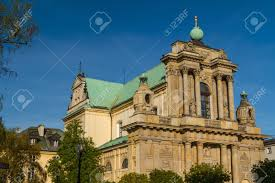 warsaw poland carmelite church at famous krakowskie