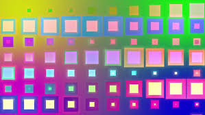 hypnotic flashing colorful cubes animated motion background stock