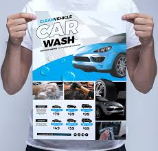 car wash service car wash poster template flyer templates creative market