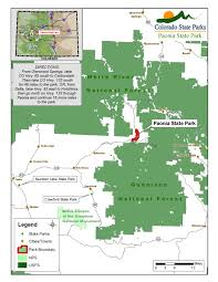 Castlewood State Park Trail Map by Paonia State Park Colorado State Parks