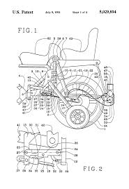patent us5029894 retractable motorcycle stop support wheels