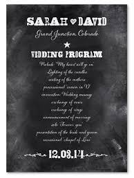 wedding program chalkboard chalkboard wedding programs west by foreverfiances weddings