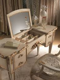 Makeup Vanity With Chair Mirrored Makeup Storage Is A Stylish Way To Unclutter The Vanity