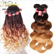 human hair extensions nadula ombre hair weave wave 4 bundles 3 tone color ombre