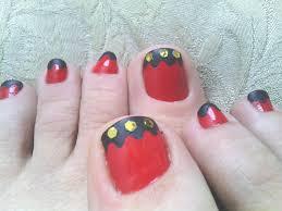 diy red black u0026 gold toe nail art youtube