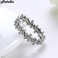 silver flowers 925 sterling silver flowers finger rings dazzling meadow
