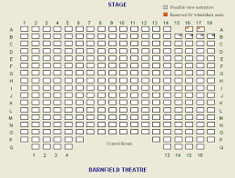 Floor Plan Of Auditorium by Exeter Barnfield Theatreseating Plan Exeter Barnfield Theatre
