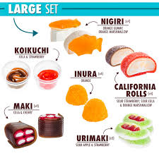 Where To Find Japanese Candy Candy Sushi A Tray Of Colorful Candy Shaped Like Sushi