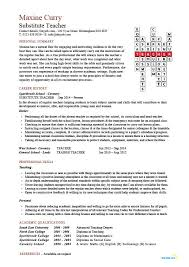 Sample Resume Teachers by Best Solutions Of Sample Resume Substitute Teacher With Additional