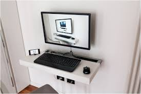 Computer Wall Desk Furniture Bookcase Desk Combo Ikea Keyboard Tray Slide Out