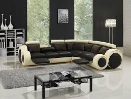 Leather Modern Sectional Sofa Modern Leather Sectional Sofa With Recliners