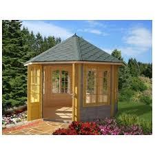 tonnelle de jardin en bois de jardin véronica 9 2 m avec plancher bois massif 34 mm