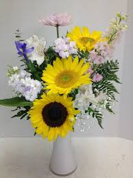 florist express sunflowers in a vase roadrunner florist basket express