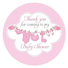 thank you baby shower thank you for coming to my baby shower stickers 60mm in