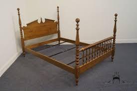 high end used furniture ethan allen heirloom nutmeg maple full