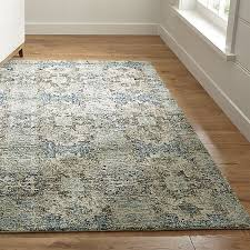 Brown And Blue Rug Alvarez Mineral Blue Hand Tufted Rug Crate And Barrel