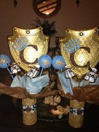 Royal Crown Centerpieces by Little Prince Banner In Royal Blue And Gold From Glittermama Http