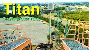 Six Flags Speed Pass Six Flags Over Texas Titan Roller Coaster Front Seat On Ride Hd