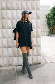 shoes boots cute lit grey shirt baddies long short