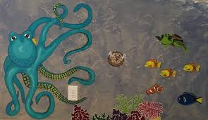 Paint By Number Mural by Easy Ocean Wall Mural Pattern Paint By Number 33