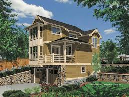 Sloping Lot House Plans Two Story One Bedroom Plan Sloped Lot Building Plans Online 75324