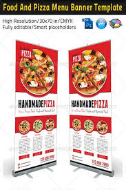 food menu templates graphicriver food and pizza menu banner