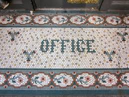 this is a elaborate entryway mosaic found downtown seattle on