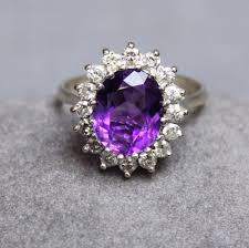 amethyst rings vintage images Antiques atlas vintage amethyst diamond ring jpg