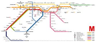 La Subway Map Caracas Metro Map Venezuela