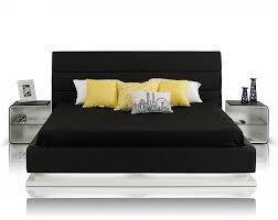 Modern Beds Infinity Contemporary Black Platform Bed W Lights