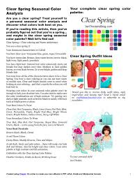 what colors go good with pink clear spring seasonal color analysis i u0027m spring pinterest