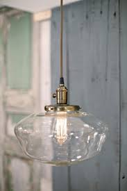 Schoolhouse Pendant Lighting by Pendant Light Schoolhouse Style Clear 12 Inch Lucent