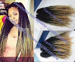 ombre marley hair new fashion two tone 1b 27 kanelaon synthetic marley hair ombre