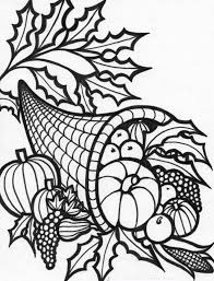 celebrations cornucopia for thanksgiving coloring pages