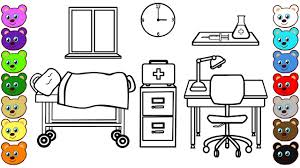 learn colors for kids with doctor u0027s office coloring pages for