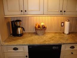 kitchen beadboard backsplash using wallpaper mom 4 real 100