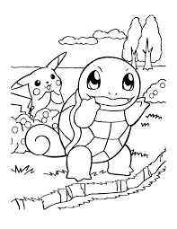 squirtle coloring page kids coloring