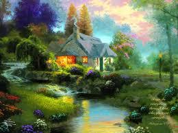 Thomas Kinkade Clocktower Cottage by Ceaco 2202 27 Jpg 882 660 Inspirational Pinterest