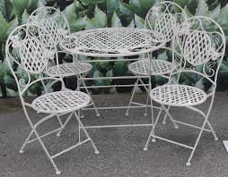 attractive white wrought iron patio furniture outdoor decor images