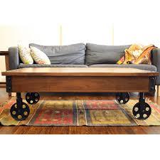 Wagon Wheel Coffee Table by Coffee Table Fantastic Coffee Table With Wheels Modern Coffee