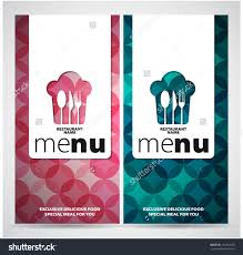 restaurant menu card design template two concepts vector save to a