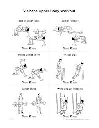 work out plans for men at home v shape upper body workout plan for chest shoulders lats
