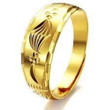 aliexpress buy gents rings new design yellow gold solid polished unisex girl women men rings yellow copper gold